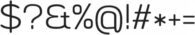 Byom Light otf (300) Font OTHER CHARS