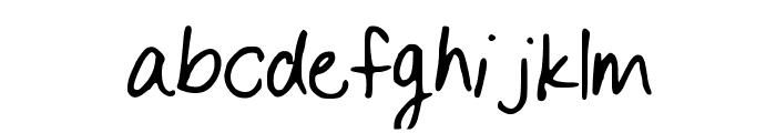 BySamantha_Print Font LOWERCASE