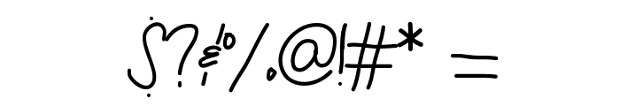 ByTheButterfly Font OTHER CHARS