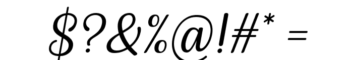 Byby Italic Font OTHER CHARS
