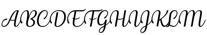 Byby Italic Font UPPERCASE
