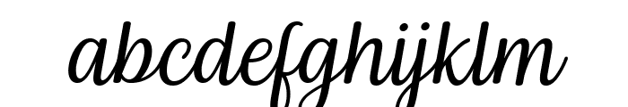 Byby Italic Font LOWERCASE