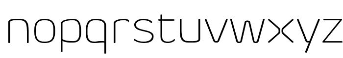Byom Thin Font LOWERCASE