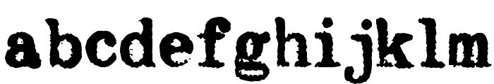 Byron Mark I Font LOWERCASE