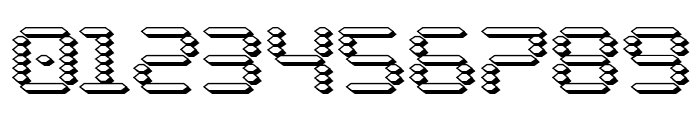 Byte Police 3D Font OTHER CHARS