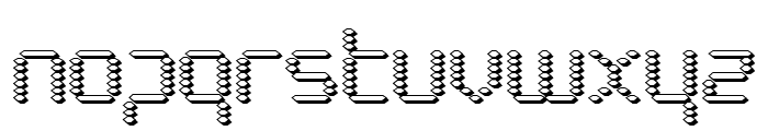 Byte Police 3D Font LOWERCASE