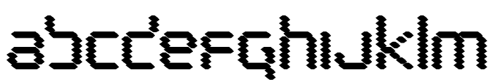 Byte Police Black Font LOWERCASE