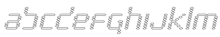 Byte Police Outline Italic Font LOWERCASE