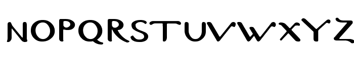 Byzantine-Normal Font UPPERCASE
