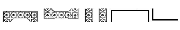 Byzantium Font LOWERCASE