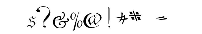 C?ntgen Kanzley Aufrecht Font OTHER CHARS