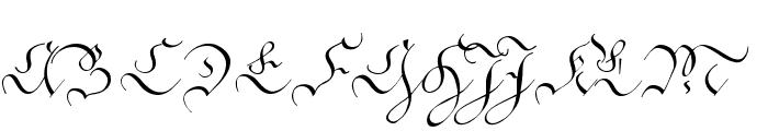 C?ntgen Kanzley Aufrecht Font UPPERCASE