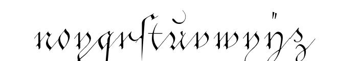 C?ntgen Kanzley Aufrecht Font LOWERCASE