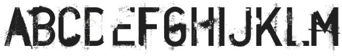 CA BNDTrash Regular otf (400) Font UPPERCASE