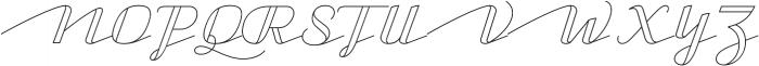 CA Capoli Stroke otf (400) Font UPPERCASE