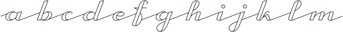 CA Capoli Stroke otf (400) Font LOWERCASE
