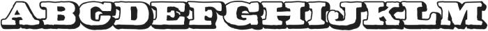 CA Coronado Shadow otf (400) Font LOWERCASE