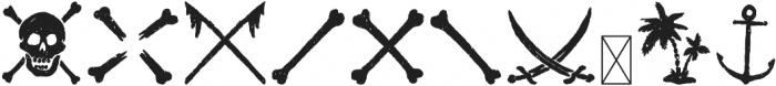 CAPTAIN SALTBEARD BOOTY otf (400) Font OTHER CHARS