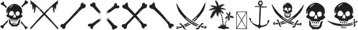 CAPTAIN SALTBEARD BOOTY otf (400) Font UPPERCASE