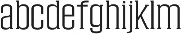 Cabales Light otf (300) Font LOWERCASE