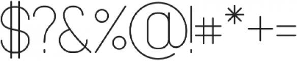 Cabo Slab Light Regular otf (300) Font OTHER CHARS