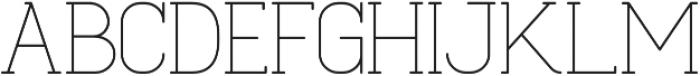 Cabo Slab Light Regular otf (300) Font UPPERCASE