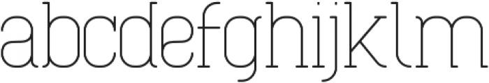 Cabo Slab Light Regular otf (300) Font LOWERCASE