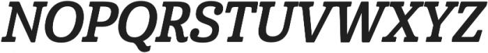 Cabrito Cond Bold Italic otf (700) Font UPPERCASE