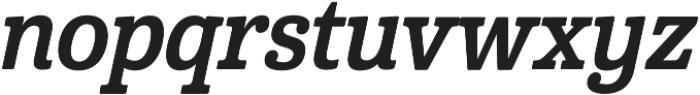 Cabrito Cond Bold Italic otf (700) Font LOWERCASE