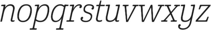 Cabrito Cond Light Italic otf (300) Font LOWERCASE