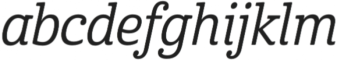 Cabrito Cond Medium Italic otf (500) Font LOWERCASE