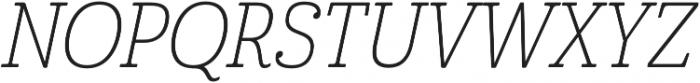 Cabrito Cond Thin Italic otf (100) Font UPPERCASE