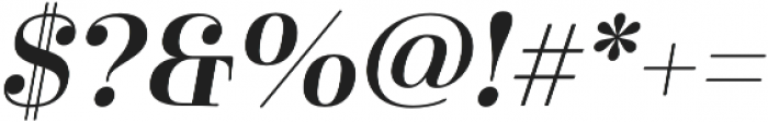 Cabrito Didone Ext Demi It otf (400) Font OTHER CHARS