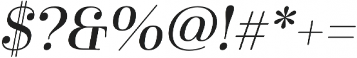 Cabrito Didone Ext Medium It otf (500) Font OTHER CHARS
