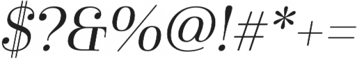Cabrito Didone Ext Regular It otf (400) Font OTHER CHARS