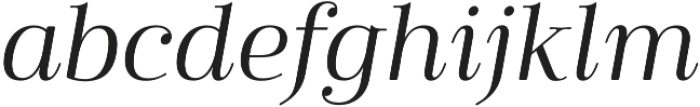 Cabrito Didone Ext Regular It otf (400) Font LOWERCASE
