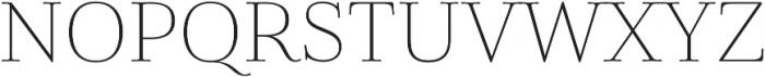 Cabrito Didone Ext Thin otf (100) Font UPPERCASE