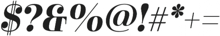 Cabrito Didone Norm Bold It otf (700) Font OTHER CHARS