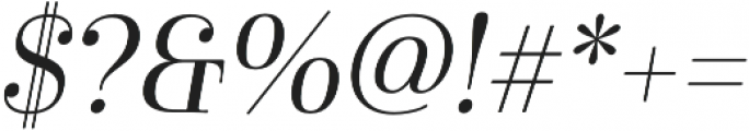 Cabrito Didone Norm Regular It otf (400) Font OTHER CHARS