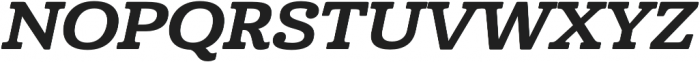 Cabrito Ext ExBold Italic otf (700) Font UPPERCASE