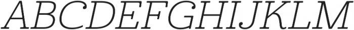 Cabrito Ext Light Italic otf (300) Font UPPERCASE