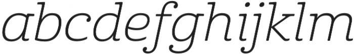 Cabrito Ext Light Italic otf (300) Font LOWERCASE