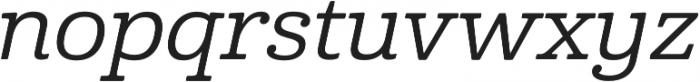 Cabrito Ext Medium Italic otf (500) Font LOWERCASE