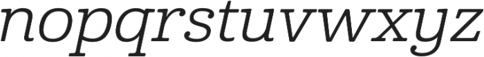 Cabrito Ext Regular Italic otf (400) Font LOWERCASE