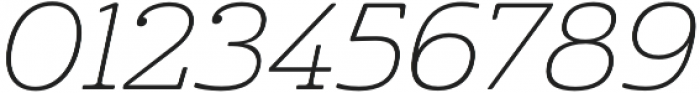 Cabrito Ext Thin Italic otf (100) Font OTHER CHARS