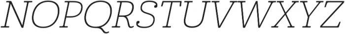 Cabrito Ext Thin Italic otf (100) Font UPPERCASE
