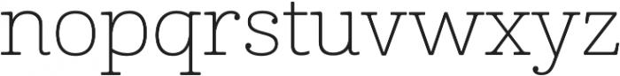 Cabrito Ext Thin otf (100) Font LOWERCASE