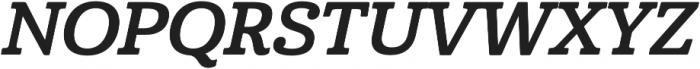 Cabrito Norm Bold Italic otf (700) Font UPPERCASE