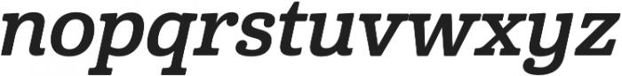 Cabrito Norm Bold Italic otf (700) Font LOWERCASE