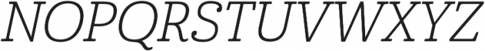 Cabrito Norm Book Italic otf (400) Font UPPERCASE